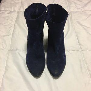 Aldo Navy Blue Boots- Size 8